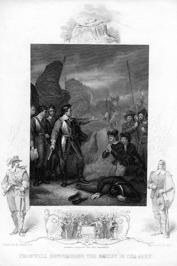 Cromwell Suppressing The Mutiny Drawing by Print Collector