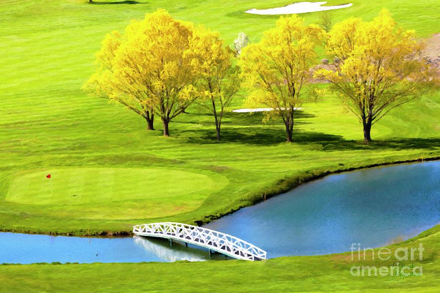 Crooked River Ranch Golf, Golf Art, Golf Decor, Golf Gifts for men, Golf wall art, golf course, by David Millenheft