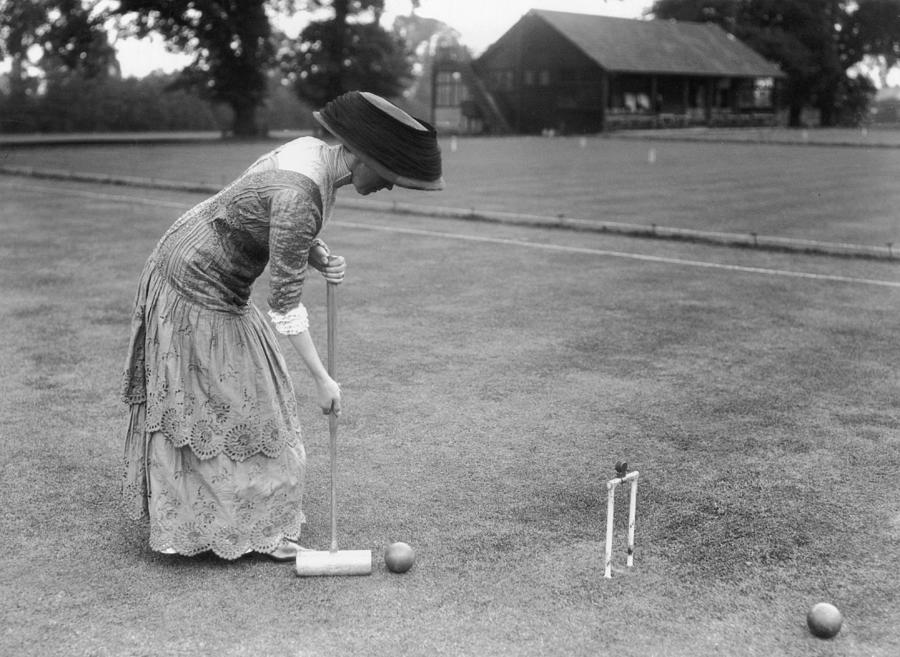 Croquet Action Photograph by Topical Press Agency
