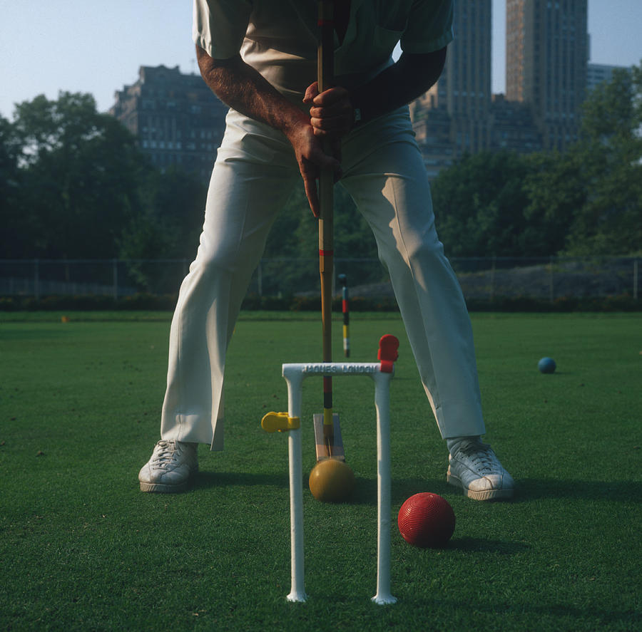 Croquet Photograph - Croquet Player by Slim Aarons