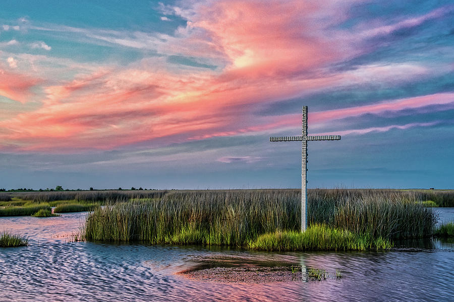 Cross at Sunset by Jerry Gammon