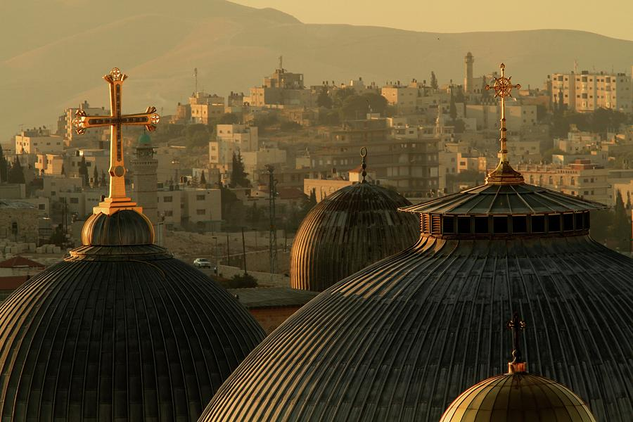 Crosses And Domes In The Holy City Of Photograph by Picturejohn