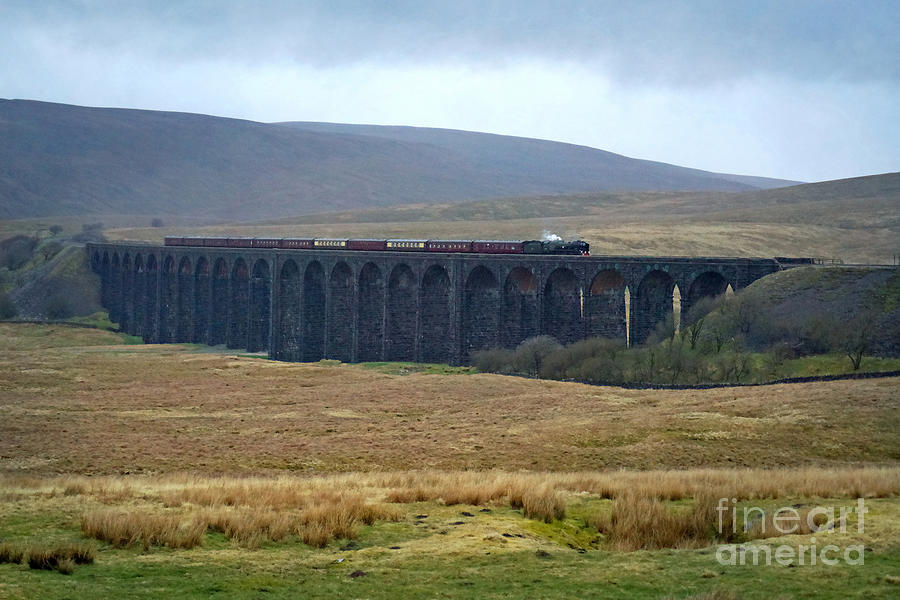 Crossing Ribblehead Viaduct by David Birchall