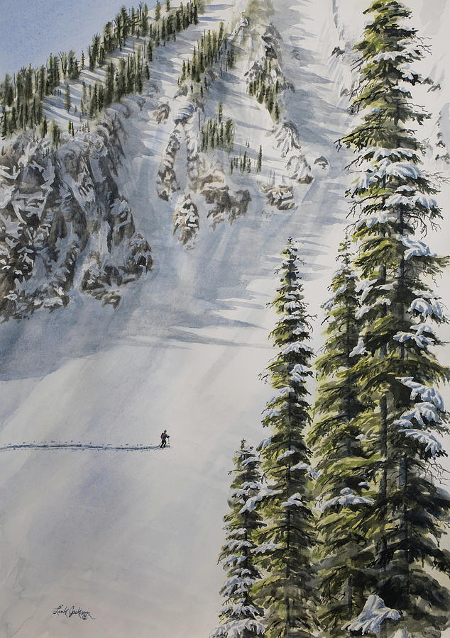 Crossing the Avalanche Chute by Link Jackson