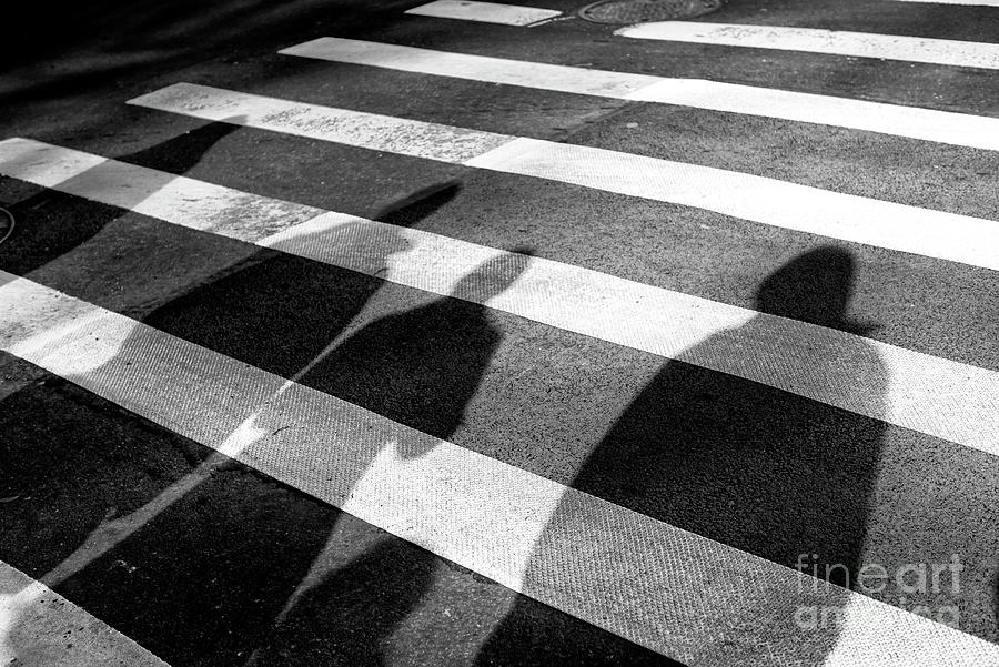 Crossings Photograph - Crossings Shadow People New York City by John Rizzuto