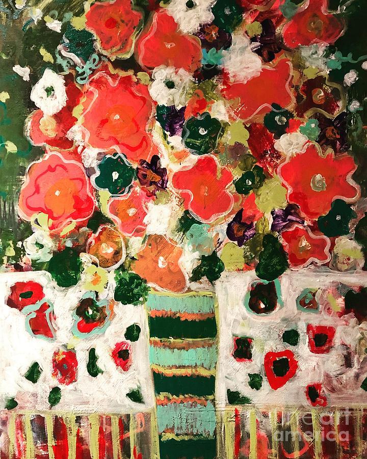 Vase Painting - Crosswalk Bouquet by Jacqui Hawk