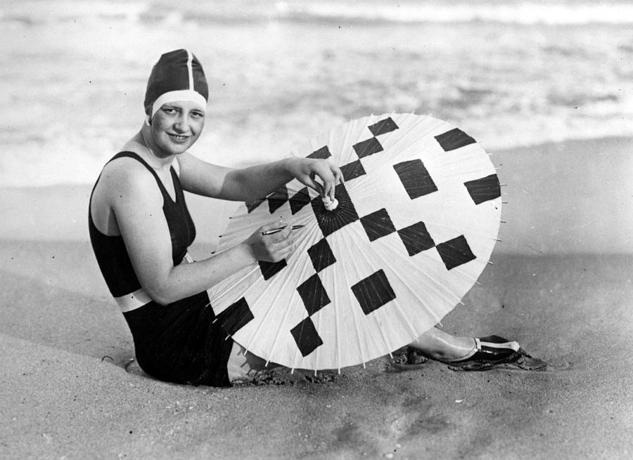 Crossword Parasol Photograph by General Photographic Agency