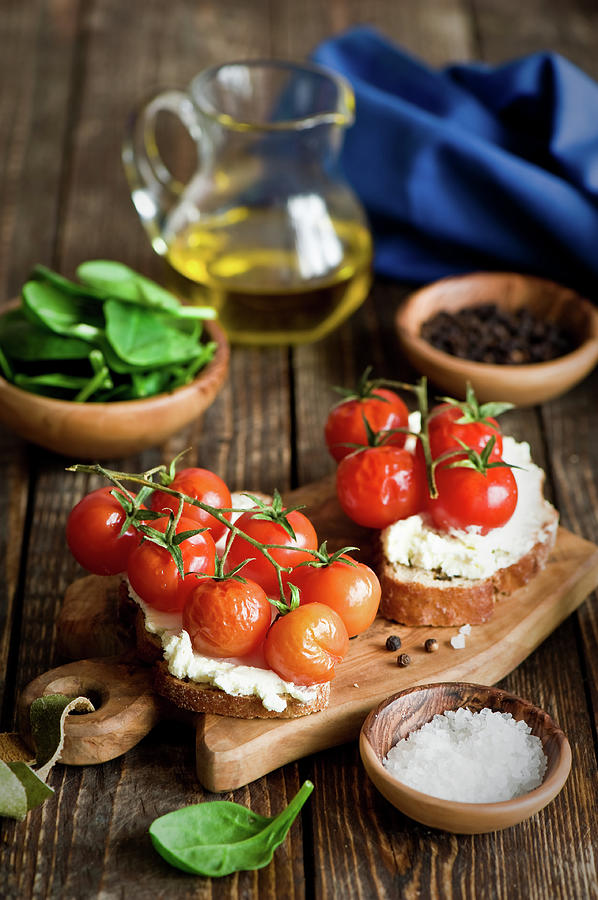 Crostini With Tomatoes Photograph by Verdina Anna