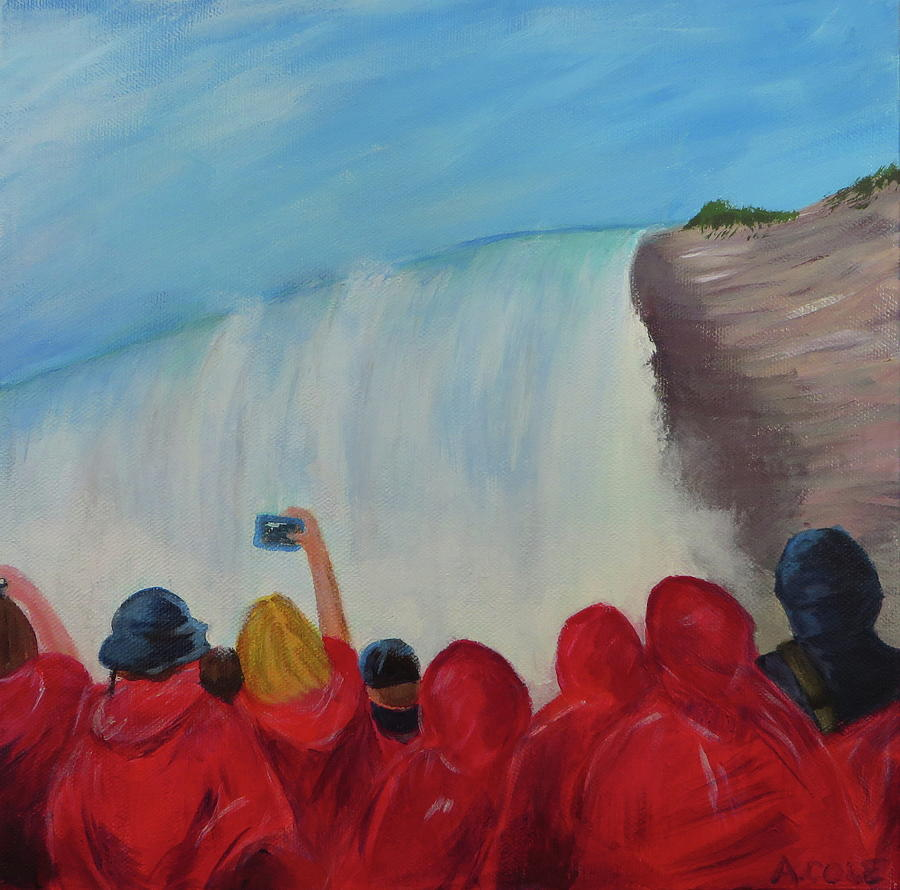 Crowd at Niagara Falls by Andrea Cole