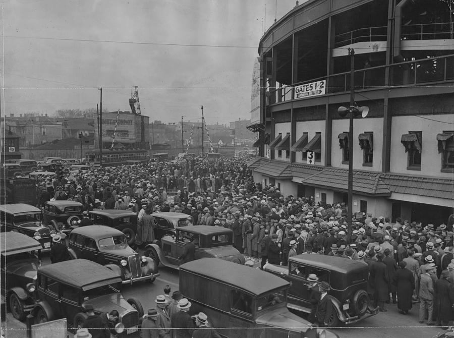 Crowd At Wrigley During World Series Photograph by Chicago History Museum