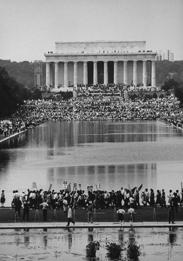 Crowd Of People Attending A Civil Rights Photograph by John Dominis