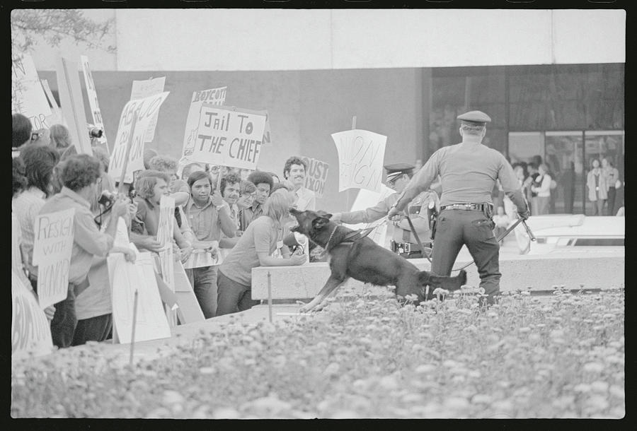 Crowd Protesting President Nixon Photograph by Bettmann