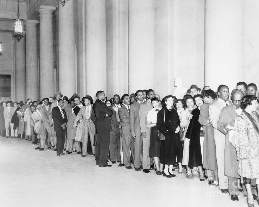 Crowd Waiting To Enter Supreme Court Photograph by Bettmann