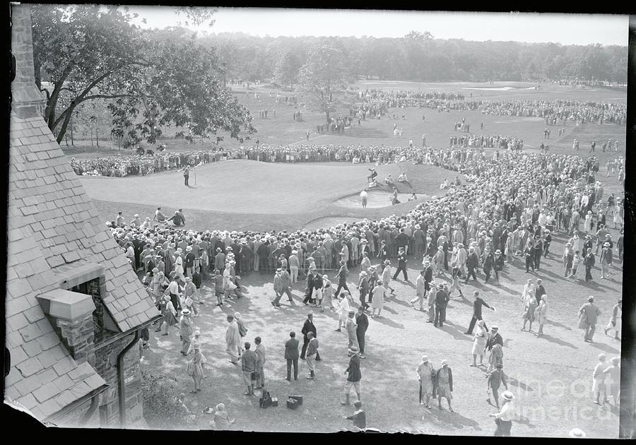 Crowd Watching Bobby Jones During Golf Photograph by Bettmann