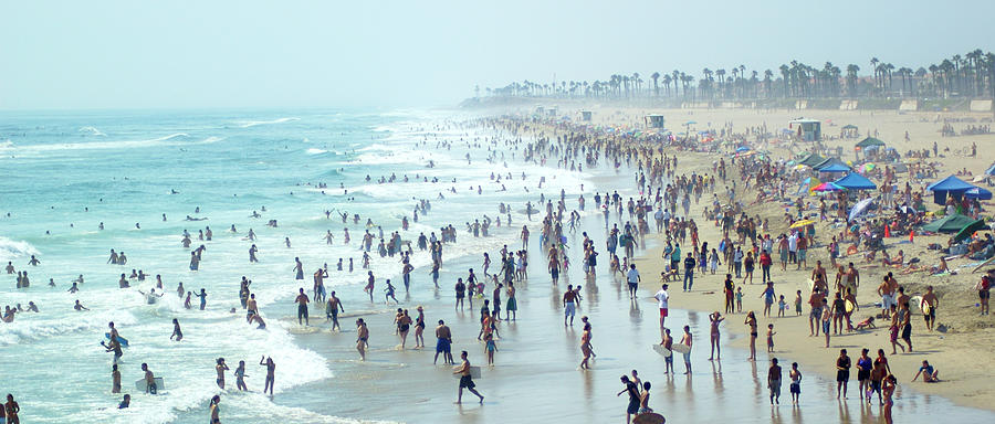 Crowded Beach Photograph by Motorider
