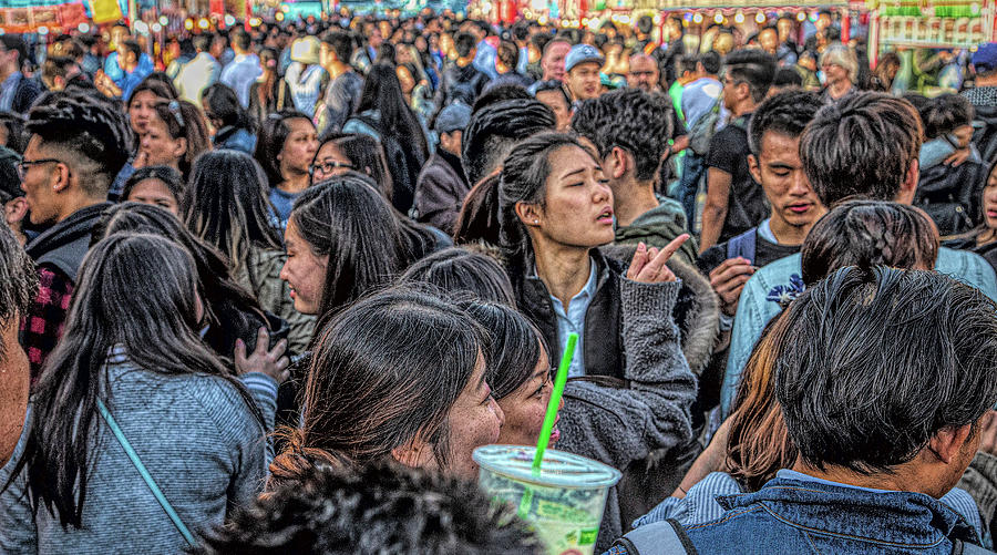 Crowds at Night Market by Darryl Brooks