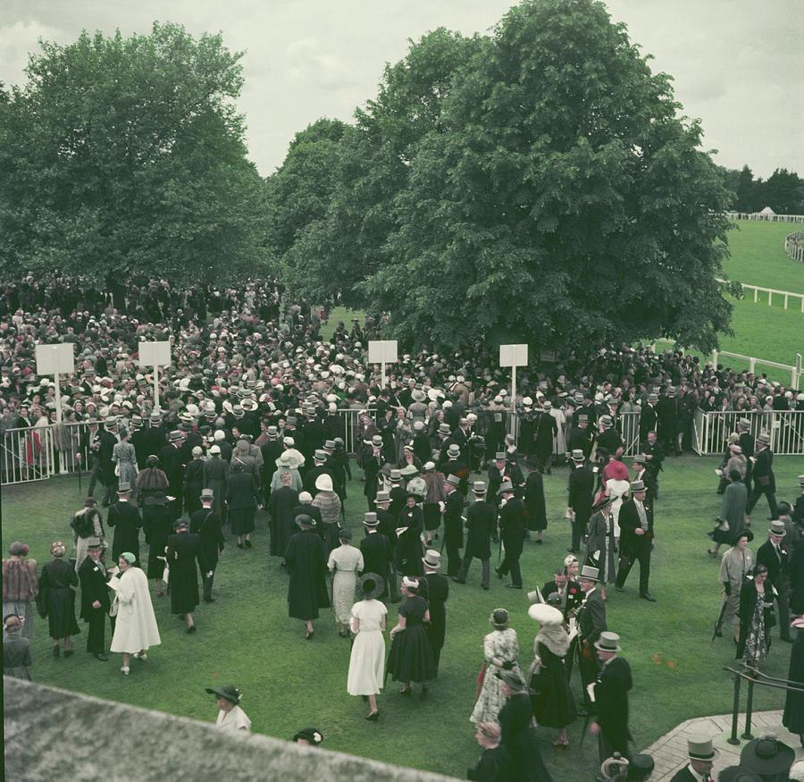 Crowds At Royal Ascot Photograph by Hulton Archive