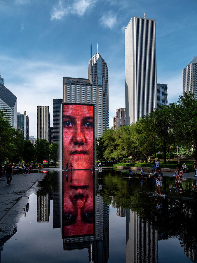 Crown Fountain Photograph