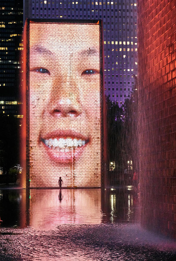 Crown Fountain in Millennium Park, Chicago by Jim Hughes