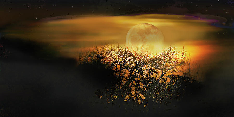 Moon Photograph - Crows Nest Full Moon by John Christopher