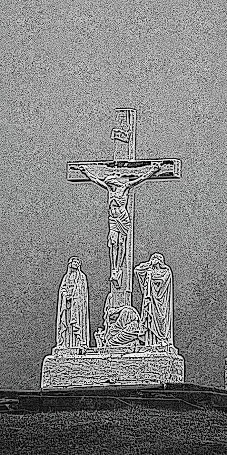 Crucifixion Of Jesus Digital Art