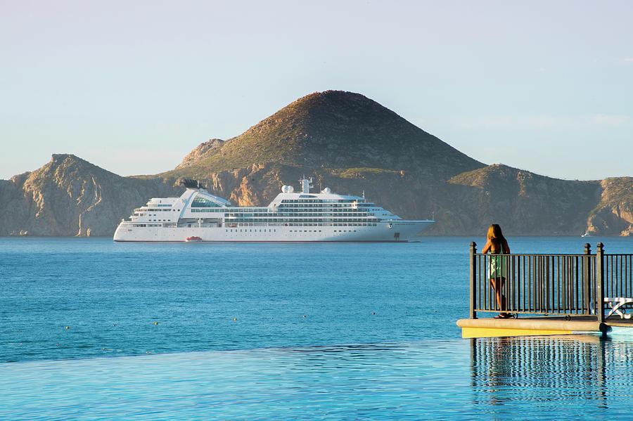 Cruise Ship View by Bill Cubitt
