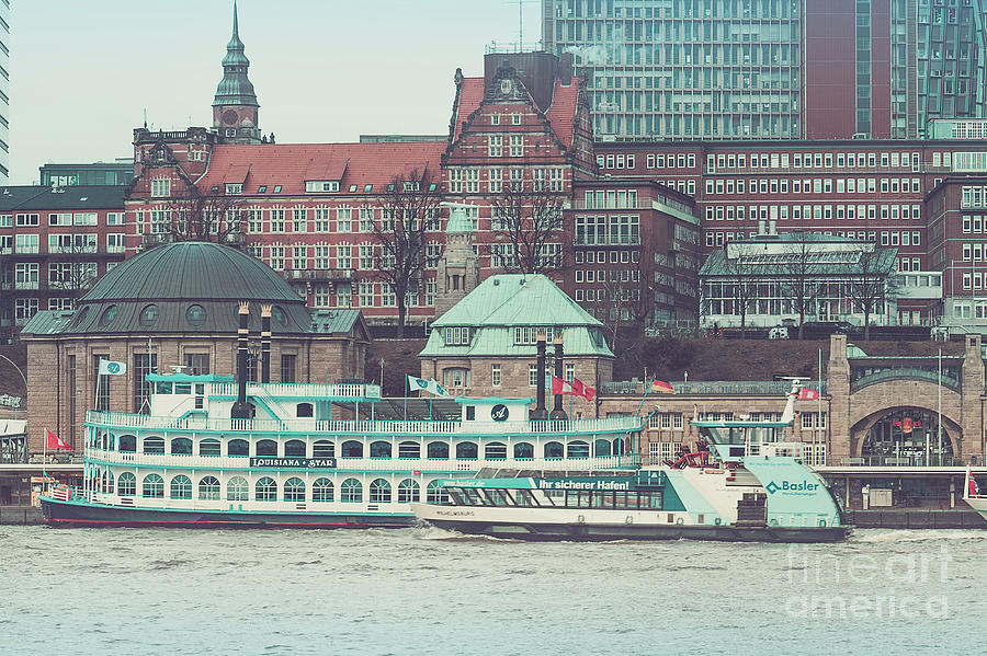 Cruise ships on the Elbe by Marina Usmanskaya