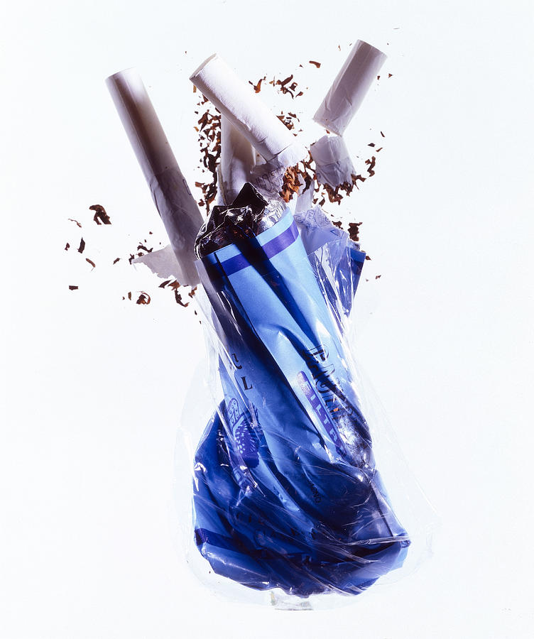 Crumpled Pack Of Cigarettes Photograph by Brian Hagiwara