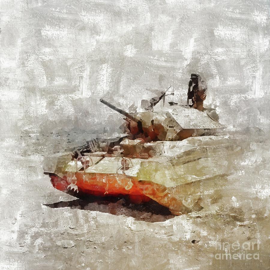 Crusader Painting - Crusader Tank, World War Two by Mary Bassett