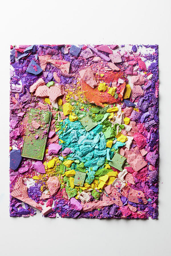 Crushed Various Make-up Powders Photograph by Fstop Images - Larry Washburn