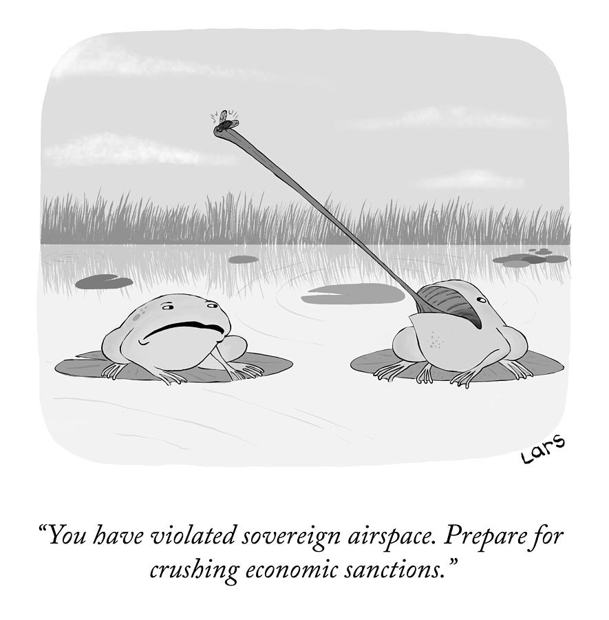 Crushing Economic Sanctions Drawing by Lars Kenseth