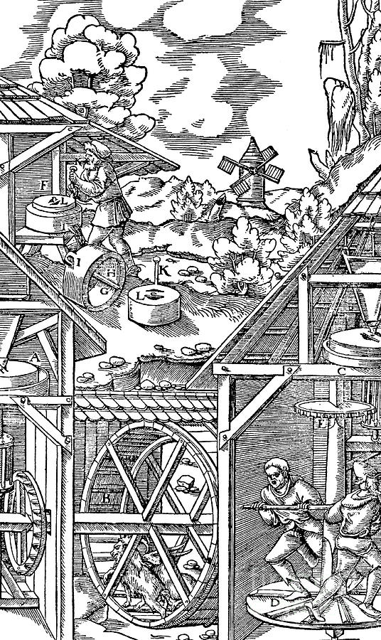 Crushing Gold Bearing Ores In Mills Drawing by Print Collector