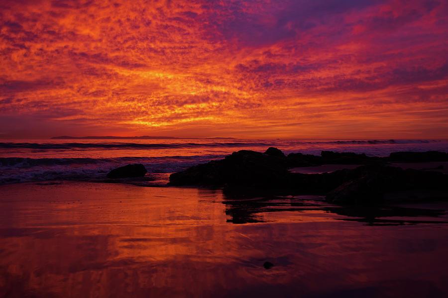 Crystal Cove Sunset Newport Beach by Kyle Hanson