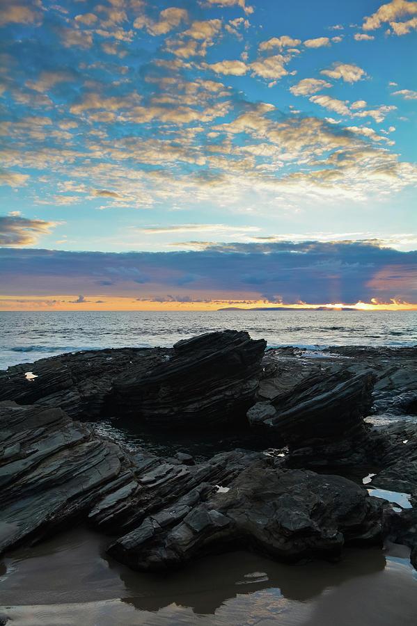 Crystal Cove Sunset Portrait by Kyle Hanson
