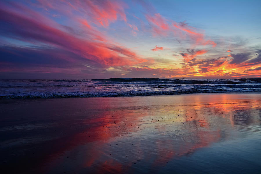 Crystal Cove Sunset Reflections by Kyle Hanson