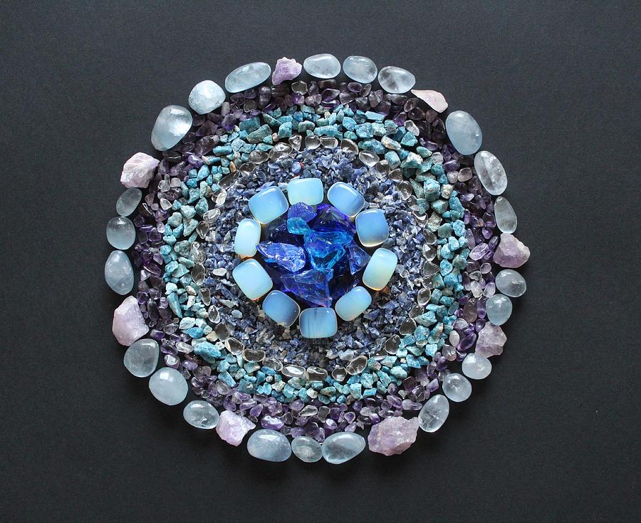 Crystal Grid Mandala by Nathalie DAOUT