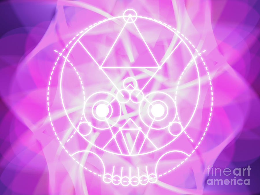 Crystalline Skull Abstract Sacred Geometry by Nathalie DAOUT
