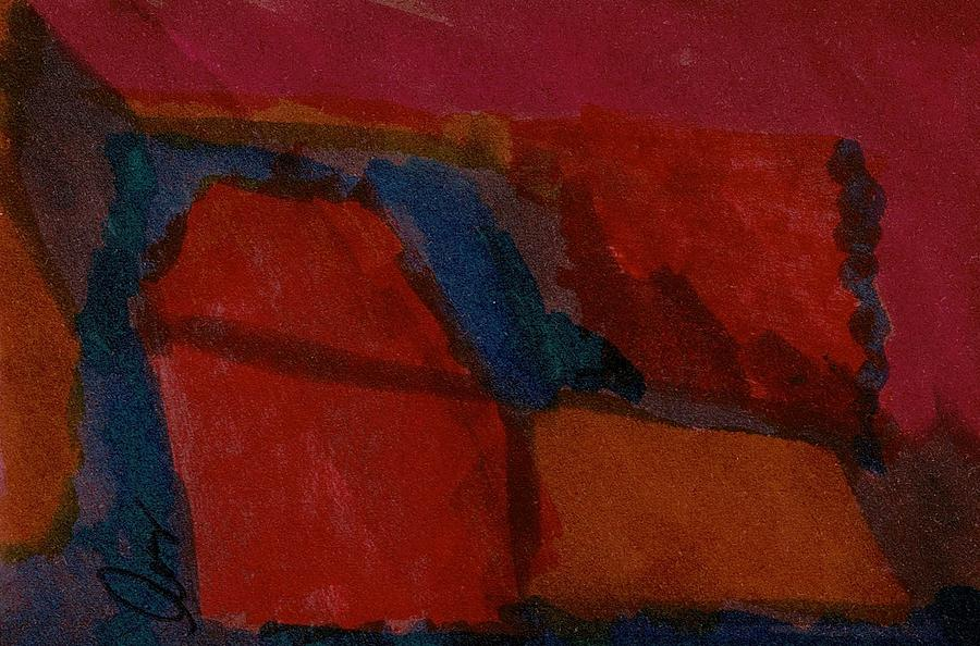 Aceo Painting - Rusty Outcrop   Csa-aceo-176-052018uk by Cruz Selene Ambrosio