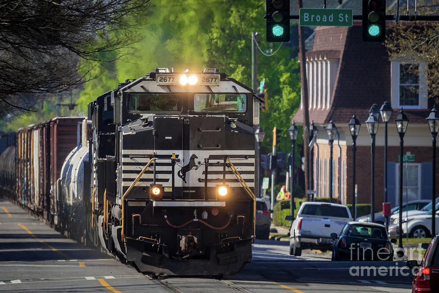 CSX Train - Downtown Augusta GA 6th Street by SANJEEV SINGHAL