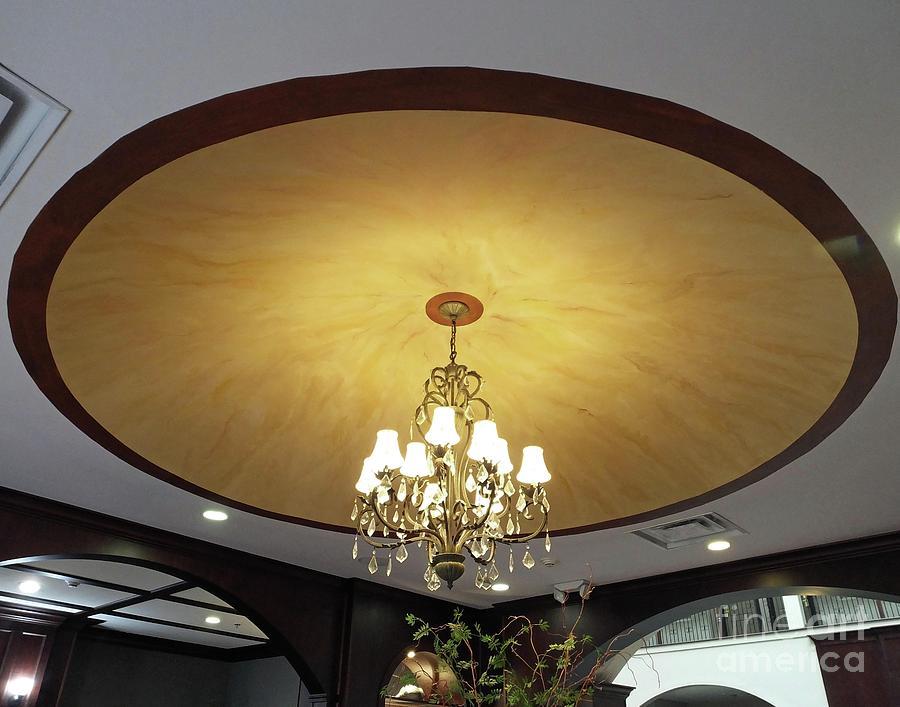 CU8 custom painted ceiling dome Athens GA by Lizi Beard-Ward
