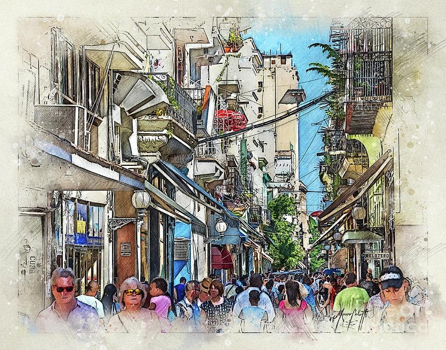 Cuba alleyway 1  by Mauro Celotti