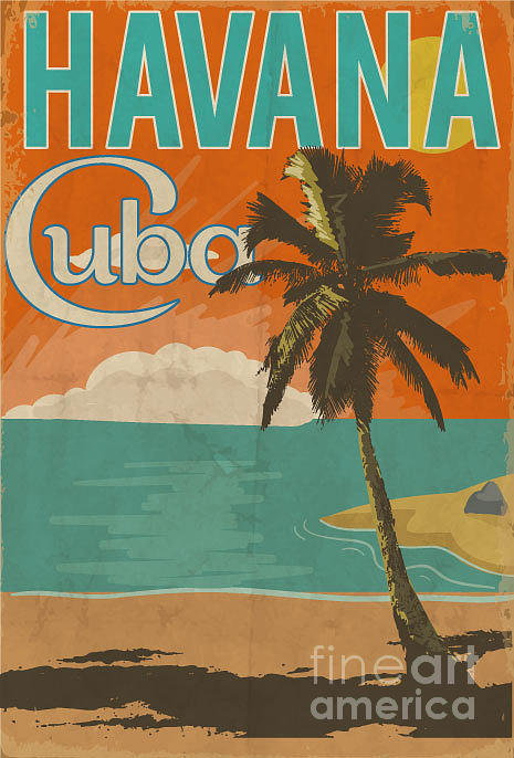 Country Digital Art - Cuba Havana Poster Illustration by Yusuf Doganay