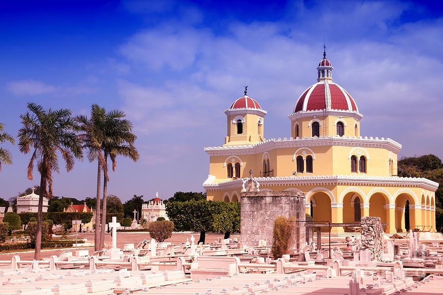 Color Photograph - Cuba - The Main Cemetery Of Havana by Tupungato