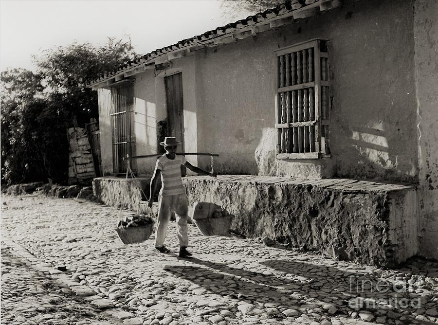 Cuba village water carrier by Venancio Diaz