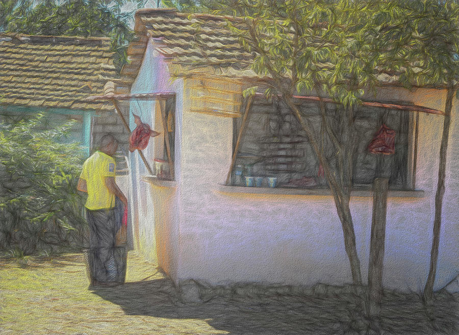 Cuban Market Stall Artistic by Joan Carroll