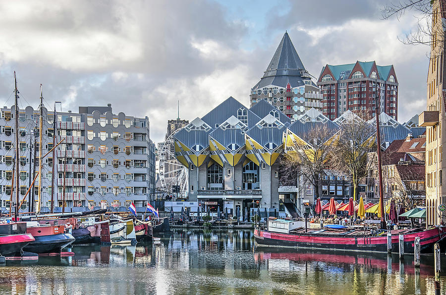 Cube Houses and Old Harbour by Frans Blok