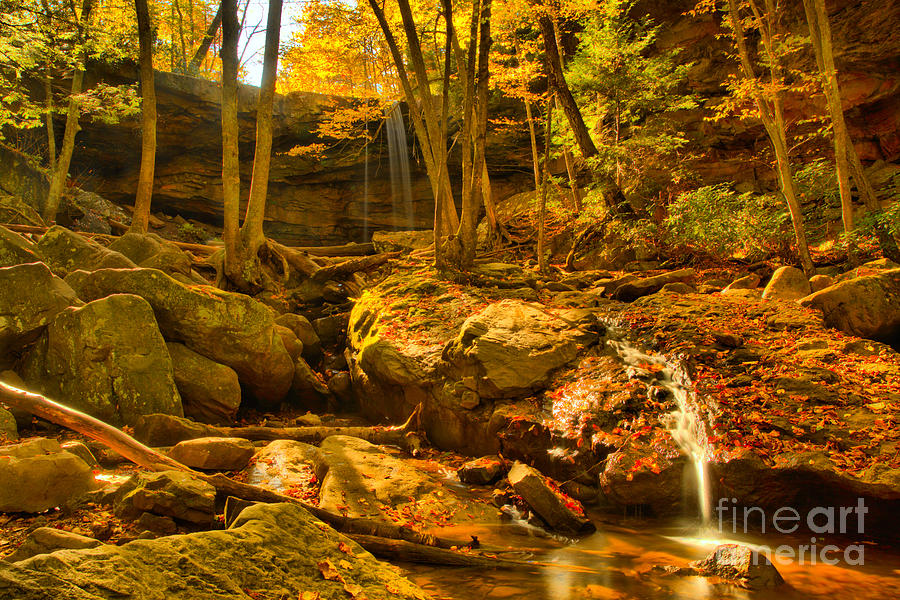 Cucumber Falls Autumn View by Adam Jewell