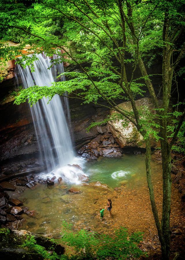 Cucumber Falls in Ohiopyle State Park by Carolyn Derstine
