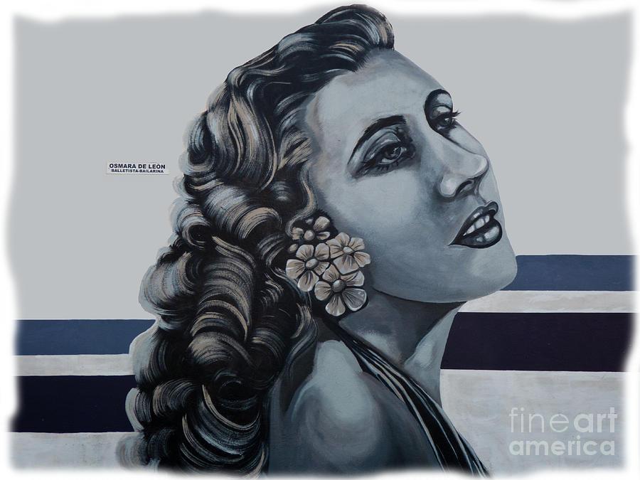 Mural Photograph - Cuenca Murals - Osmara De Leon by Al Bourassa