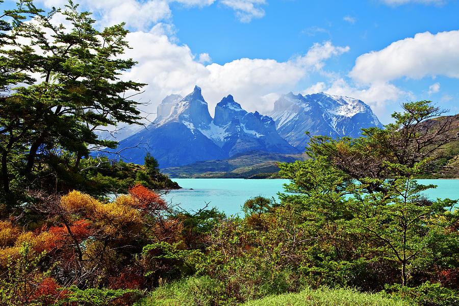 Cuernos Del Paine,  Patagonia Photograph by John W Banagan